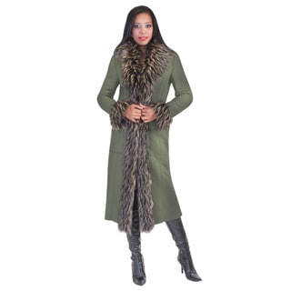 Tally Taylor Womens Shearling Faux Fur Coat