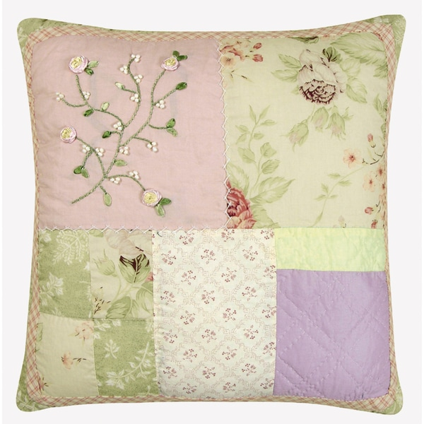 Rose Garden Quilted Pillow