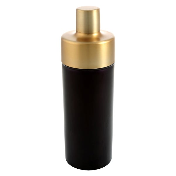 Cambridge Silversmiths Dorian Brass and Black 24-ounce Shaker