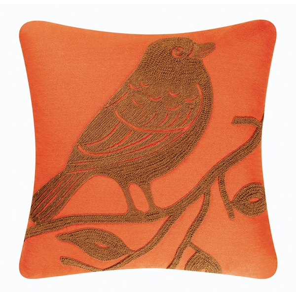 Bird Rice Stitch Pillow