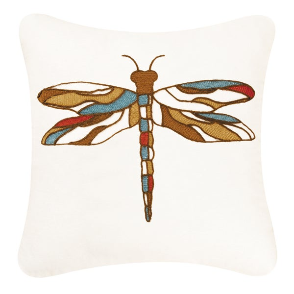 Dragonfly Chain Stitch Pillow