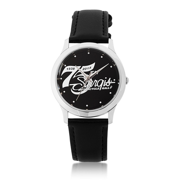 75th Sturgis Rally Mens Black Dial Stainless Steel Watch