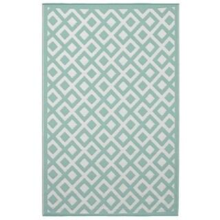 Marina - Eggshell Blue & Bright White (3' x 5')