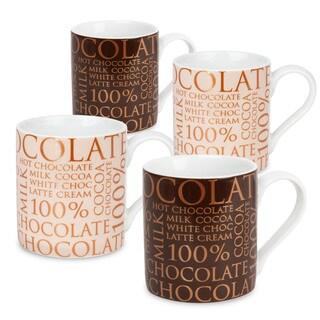 Waechtersbach 100-percent Chocolate Mugs (Set of 4)