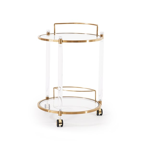 Wilcox Bar Trolley, Antique Gold