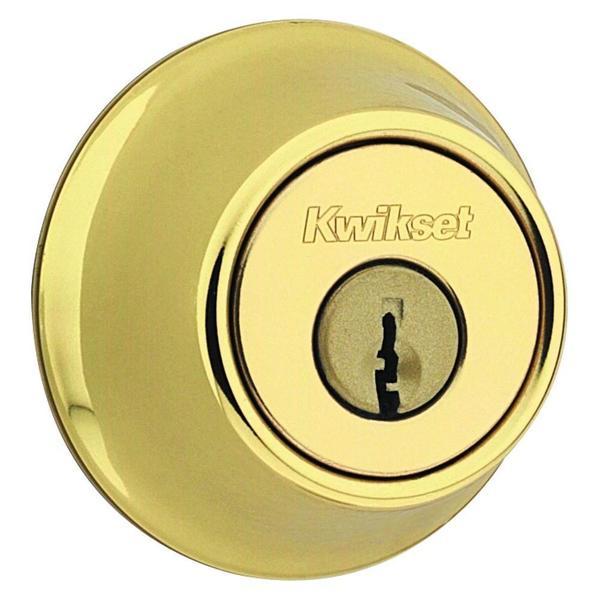 Kwikset 660 Single Cylinder Polished Brass Deadbolt