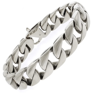Stainless Steel Men's Thick Cuban Bracelet