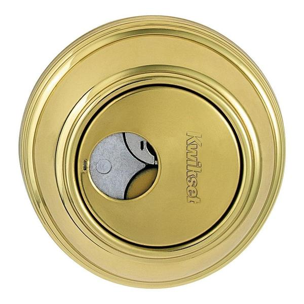 Kwikset 816 Single Cylinder Polished Brass Key Control Deadbolt Featuring SmartKey