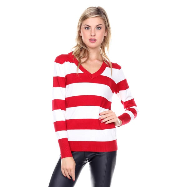 http://ak1.ostkcdn.com/images/products/10594071/Stanzino-Womens-V-neck-Long-Sleeve-Striped-Sweater-ab8dc451-4a87-4c85-bc94-d9c1c82b8633_600.jpg