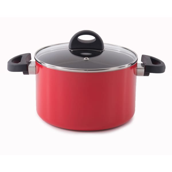 Eclipse 8-inch Red Covered Casserole Dish