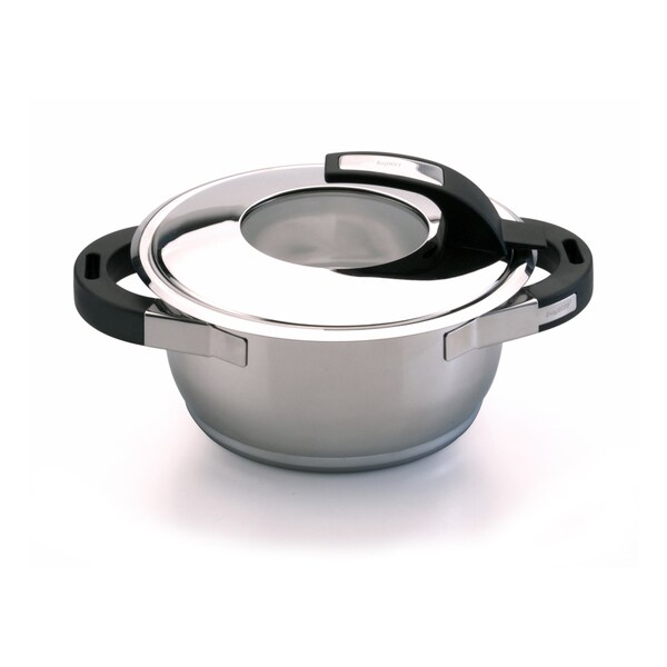 Virgo 7-inch Stainless Steel Covered Casserole Dish