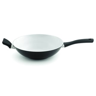 Eclipse Black and White 11-inch Wok Pan