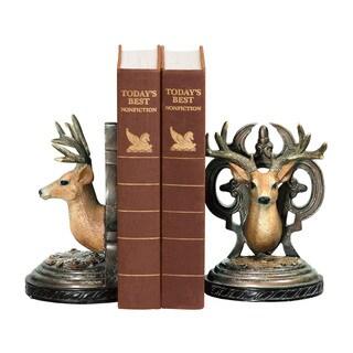 Sterling Pair Deer Head Bookends