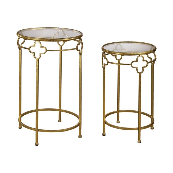 Sterling Gold Quatrefoil Stacking Tables
