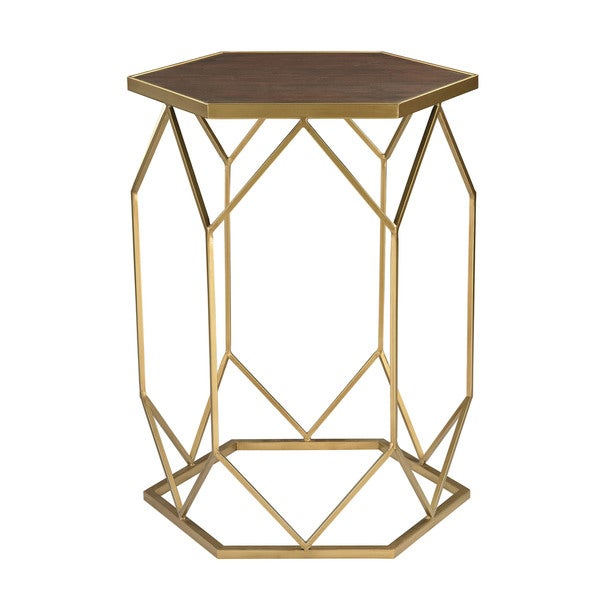 Sterling Hexagon Frame Side Table