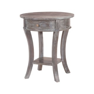 Sterling Oval Mahogany Grey Stain No. 4 Side Table