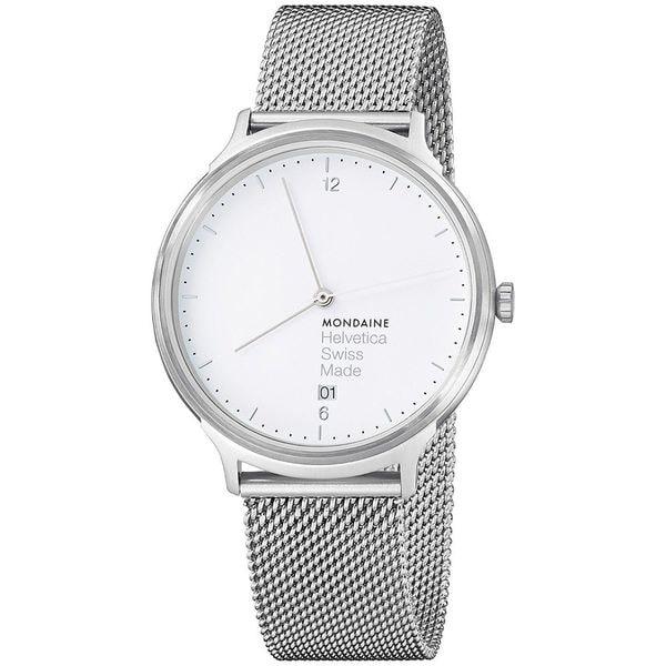 Mondaine Unisex MH1L2210SM 'Helvetica No. 1 Light' Stainless Steel Watch