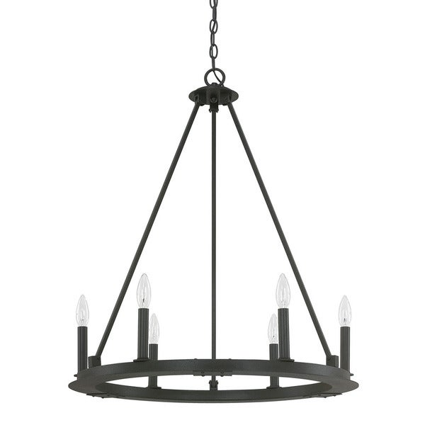 Capital Lighting Pearson Collection 6 light Black Iron