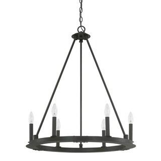 Capital Lighting Pearson Collection 6-light Black Iron Chandelier