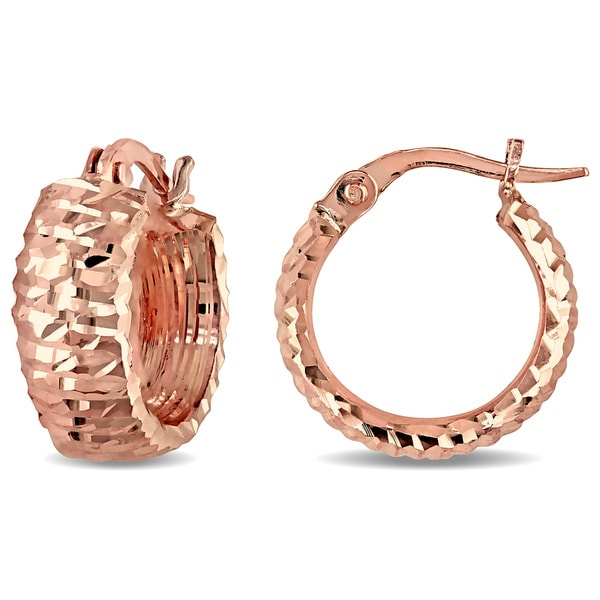 Miadora 14k Rose Gold Cuff Earrings