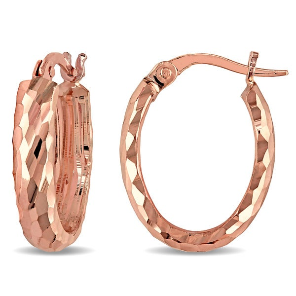 Miadora 14k Rose Gold Hoop Earrings