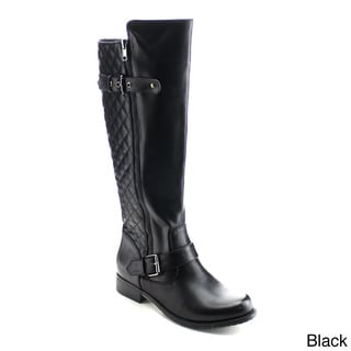DAVICCINO Women's Quilted Knee High Boots