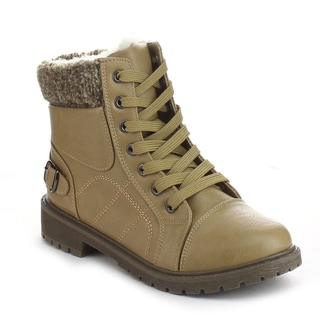 DAVICCINO AA02 Women's Lace Up Ankle Boots
