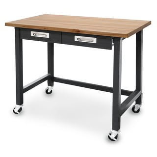 Seville Classics UltraGraphite Commercial Heavy-Duty Wheeled Workbench with Drawers
