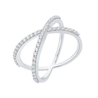 10k White Gold 1/2ct TDW Diamond X Fashion Ring (G-H,I2-I3)