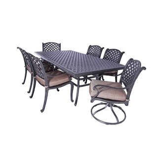 Gathercraft Casa Grande Bronze Outdoor Cast Aluminum 7-Piece Dining Set