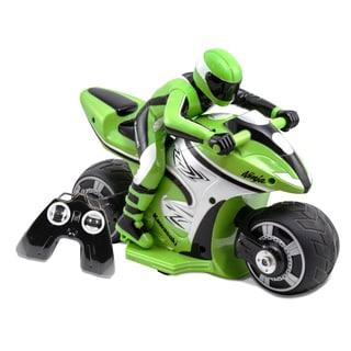 Kid Galaxy Kawasaki Ninja Green RC Cycle