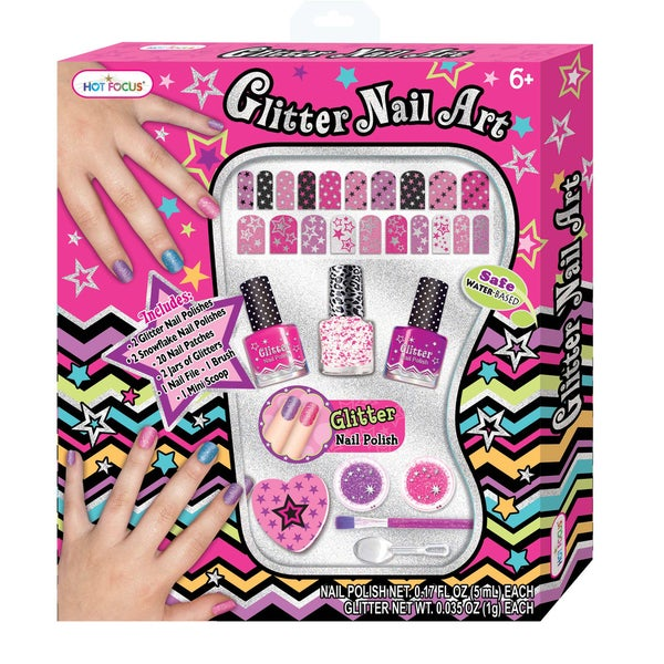 Hot Focus Glitter Nail Art Gift Set
