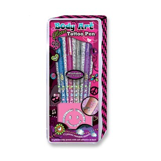 Hot Focus Washable Body Art Body Jewels and Tattoo Pens