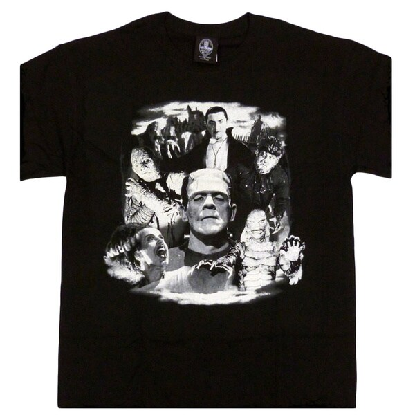 Classic Universal Monster'sT-Shirt Monster Collage - Men