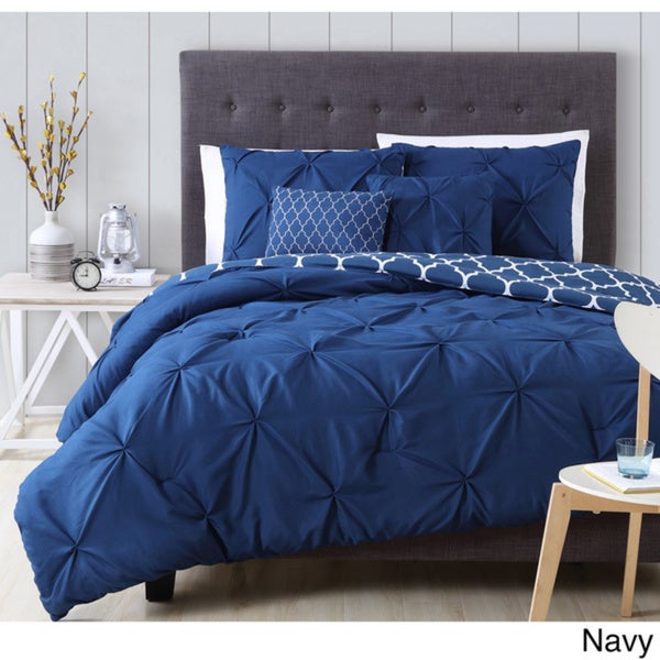 Avondale Manor Madrid 5-piece Queen Comforter Set in Navy (As Is Item)