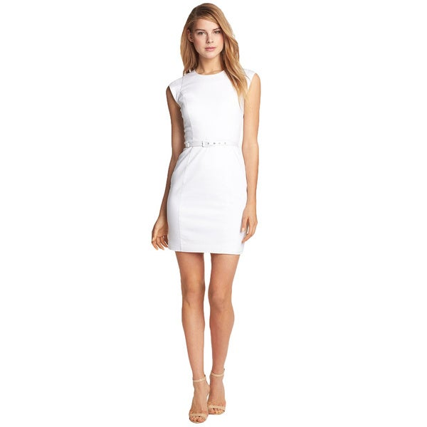 French Connection Ten To Ten White Cotton Sleeveless Dress