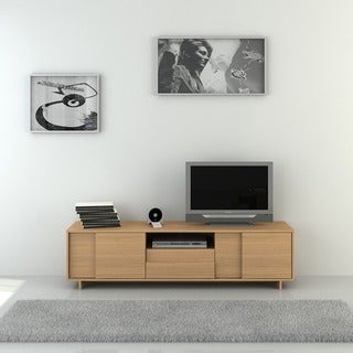 Argo Furniture Timber Modern TV Stand and Media Cabinet