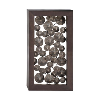 Framed Metal Lily Pods Wall Ornament