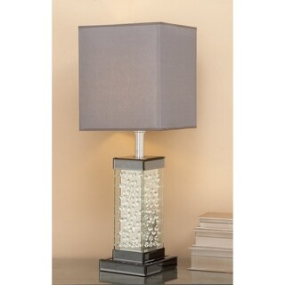 encased Crystal Bubble Table Lamp