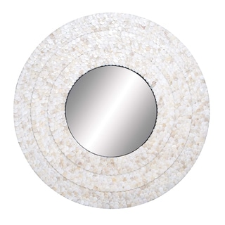 "Mother of Pearl 32"" Round Mirror"