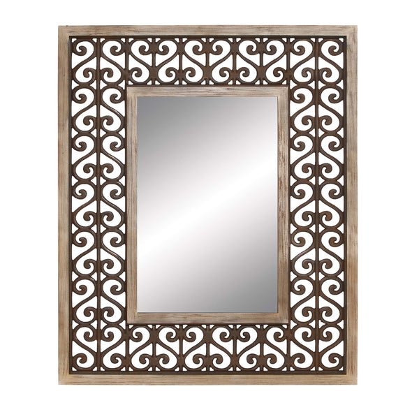 Heart Scroll Mirror
