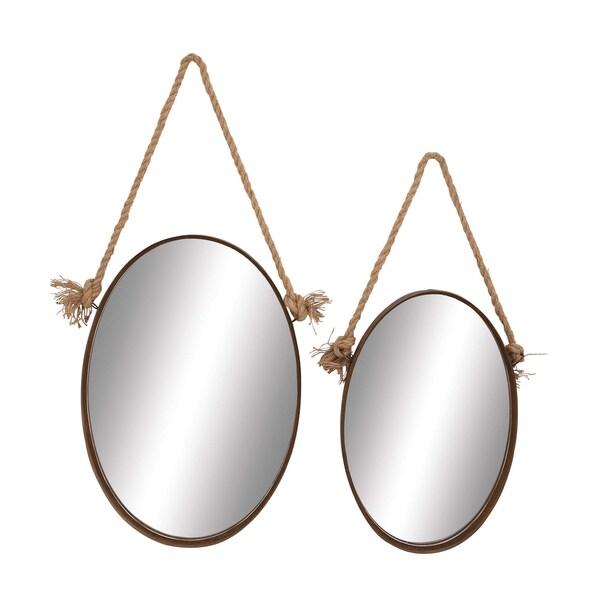 Rustic Round Mirrors (Set of 2)