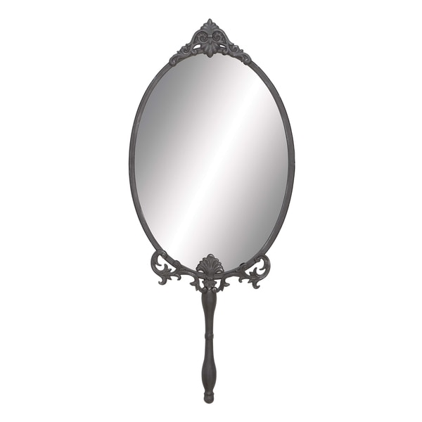 Handheld Oval Wall Mirror