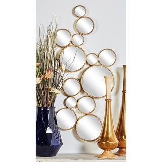 Strick & Bolton Buri Round Gold Wall Mirrors