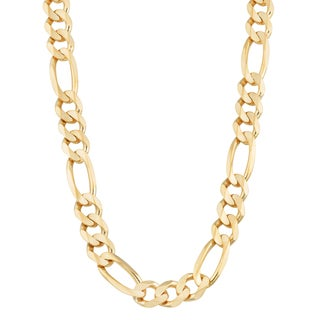 Fremada 14k Yellow Gold 8.5-mm Men's High Polish Solid Figaro Link Chain Necklace (22 or 26 inches)