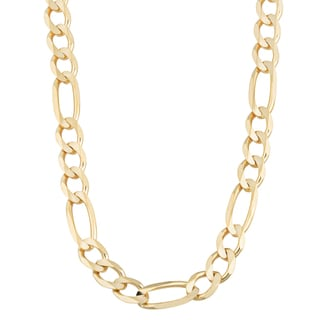 Fremada 14k Yellow Gold 7.4-mm Men's High Polish Solid Figaro Link Chain Necklace (20 - 26 inches)