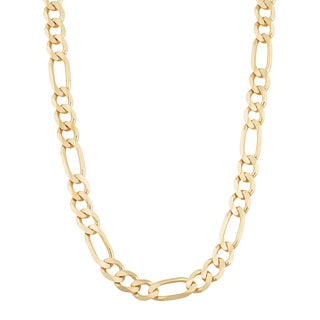 Fremada 14k Yellow Gold 6.2-mm High Polish Solid Figaro Link Chain Necklace (20 - 30 inches)
