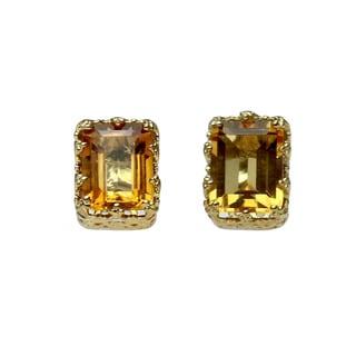 One-of-a-kind Michael Valitutti Palladium Silver Citrine Stud Earrings