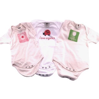 I'm Organic Girls' Bodysuits (Set of 3)