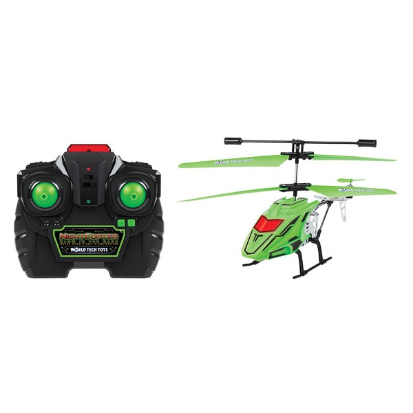 World Tech Toys NightCopter Glow In The Dark 3.5CH RC Helicopter